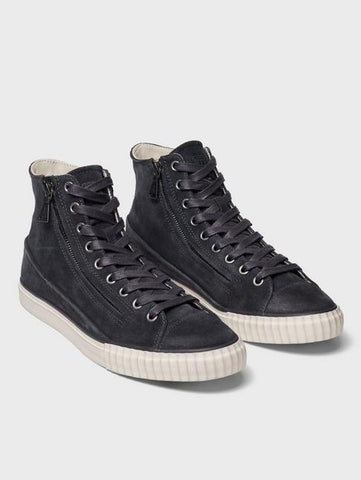 John Varvatos WASHED SUEDE DOUBLE ZIP MID TOP Lead
