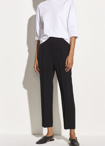 VINCE. Tapered Pull-On Pant in Black