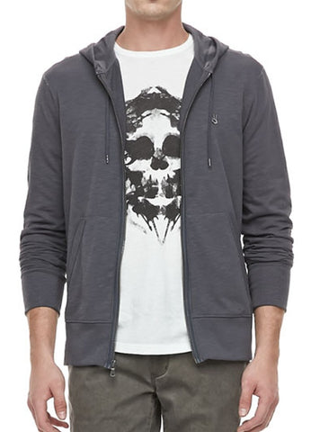 John Varvatos Peace Zip Hoody - Charcoal