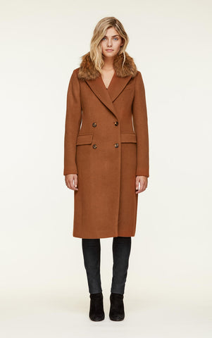 Soia&Kyo LorenzaR8F DB Coat With Fur Collar