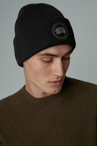 Canada Goose Large Black Disc Thermal Toque - Black