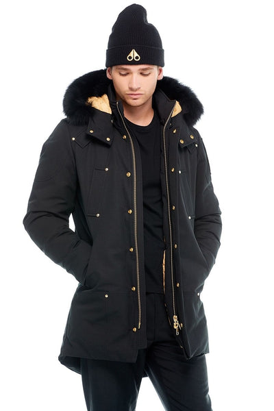 Moose Knuckles Men's Stag Lake Parka Black w/Black Fox
