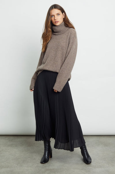 Rails Delphine Accordian Pleat Skirt in Black