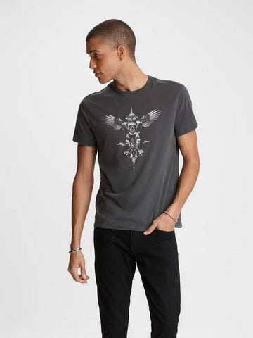 John Varvatos WINGS VINTAGE Graphic Tee Coal