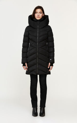 Soia&Kyo Sydnea Mid Length Sporty Down Coat with Large Hood