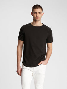 John Varvatos CONNOR S/S CREW WITH CONTRAST STITCH Black