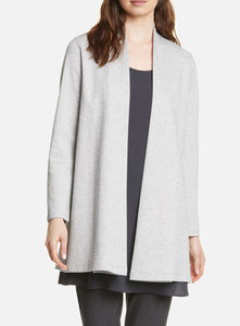 Eileen Fisher Organic Cotton Herringbone Jacket w Side Slits - Dark Pearl