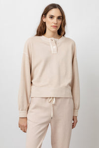 Rails Erin French Terry Henley L/S in Putty
