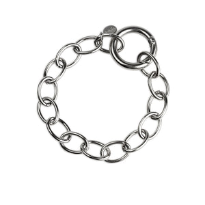 Cuchara Etta Circle Link Chain Bracelet in Silver