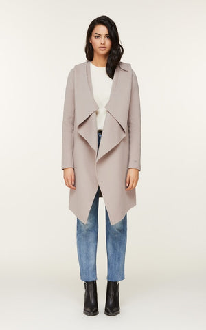 Soia&Kyo Samia-N Belted Wool Coat in Quartz