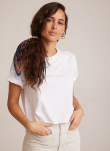 bella dahl sueded jersey Rolled Short Sleeve Tee