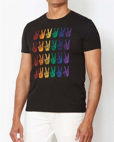 John Varvatos PRIDE HANDS Graphic Tee - Black