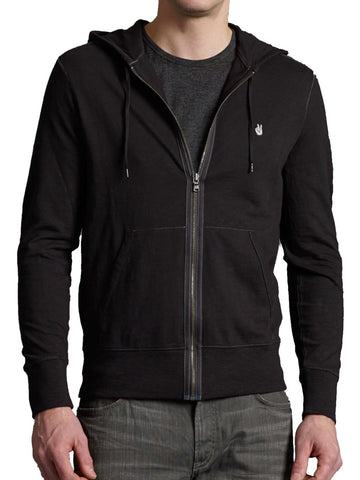 John Varvatos Peace Zip Hoody - Black