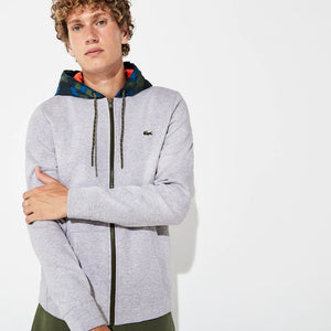 Lacoste Men's Contrast Hood Fleece Zip Sweatshirt SH8594-52