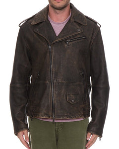 John Varvatos Leather Moto Jacket