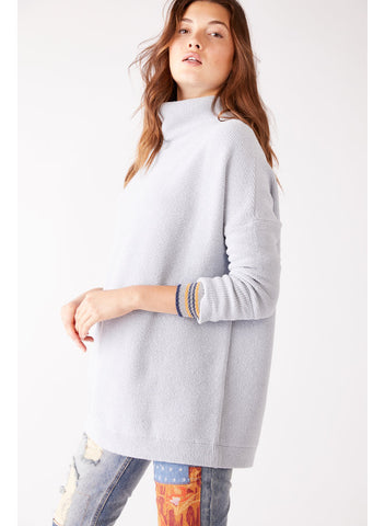Free People Ottoman Slouchy Tunic in Powder Blue