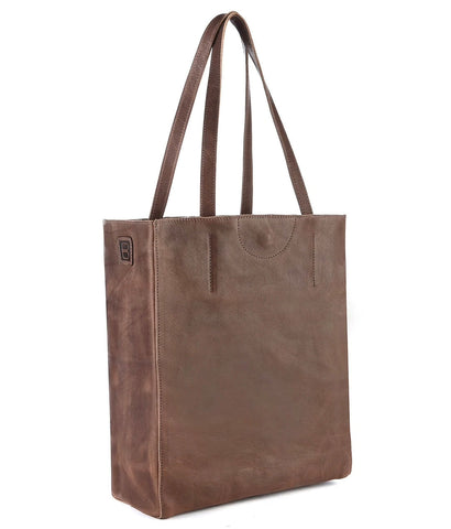 Brave Giovana Nappa Leather Tote in Marone