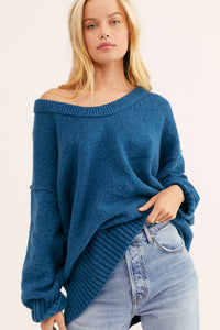 Free People Brookside Tunic in Halcyon Blue
