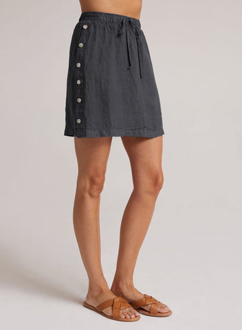bella dahl side button skirt in Sea Mist