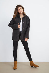 Velvet Albany Lux Sherpa Jacket in Charcoal