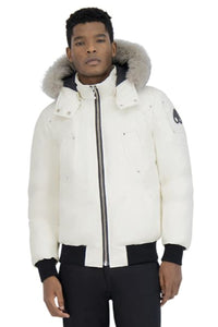 Moose Knuckles Men's Ballistic Bomber Milky Way w/Stoned Fox