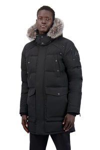 Moose Knuckles Men's Big Ridge Parka Black w/frost Fox
