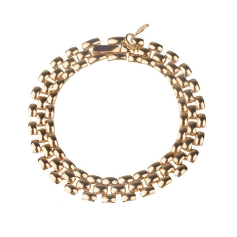 Cuchara Mariah Rolex chain link bracelet in gold