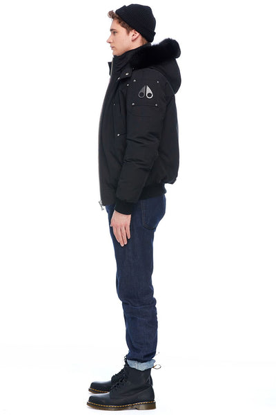 Moose Knuckles Men's Ballistic Bomber Black w/Black Fox