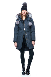 Moose Knuckles Women's Stirling Parka Granite w/Frost Fox