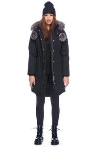 Moose Knuckles Women's Stirling Parka Black w/Frost Fox