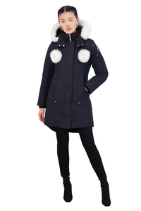Moose Knuckles Women's Stirling Parka Navy w/Natural Fox