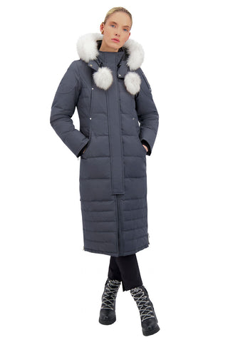 Moose Knuckles Women's Saskatchewan Parka - Granite w/Nat Fox