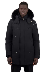 Moose Knuckles Men's Stirling Parka - Black w/Black Fox
