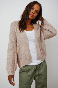 Velvet Neza04 Cotton Cardigan in Mauve