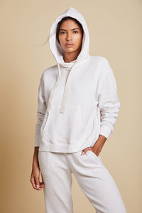 Velvet Ojai Organic Fleece Hoodie in Beach