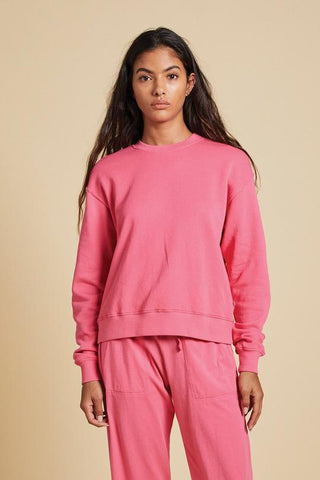 Velvet Ynez Organic Fleece Pullover in Candy