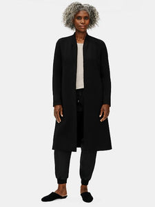 Eileen Fisher Collarless Jacket in Black