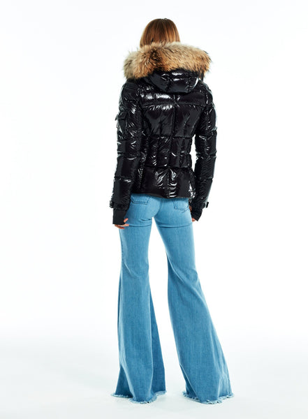 SAM Blake Shaped Goose Down Jacket W Fur-Trim Hood