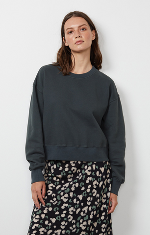 Velvet Nella Soft Fleece Long Sleeve Top in Verte