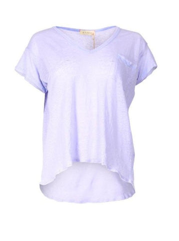 Stark Linen V-Neck Pocket Tee