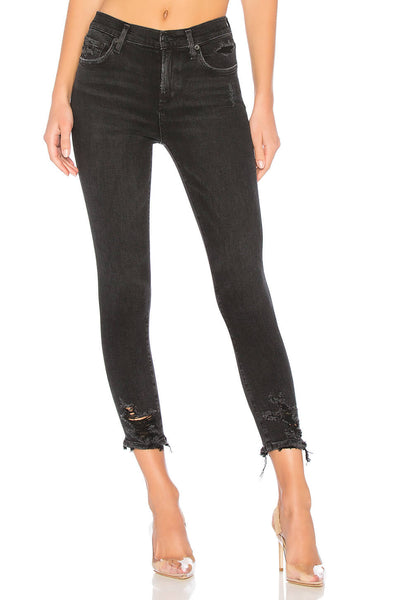 AGoldE Women's Sophie Hi Rise Crop in Temple