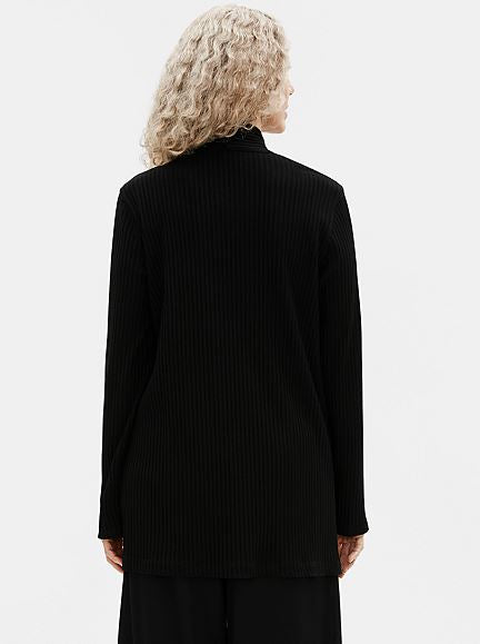 Eileen Fisher Jacket w Side Slits in Black