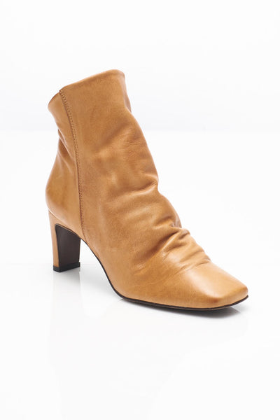 Free People Cybill Sleek Leather Ankle Boot in Tan