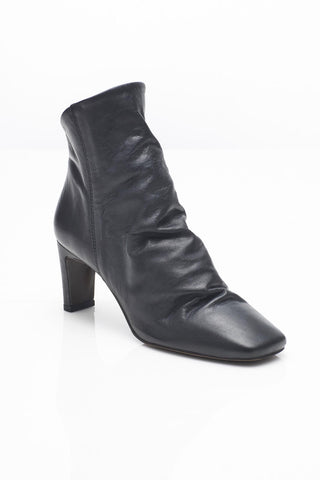 Free People Cybill Sleek Leather Ankle Boot in Black