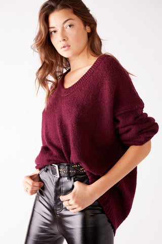 Free People Brookside Tunic in Wine