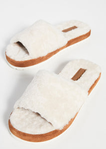 Vince Kalina Shearling Slipper in Turtledove