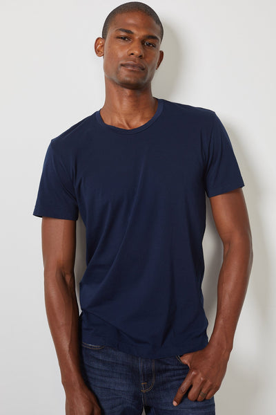 Velvet Men's DS Whisper Classics Crew Tee - Midnight