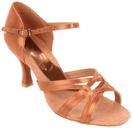 "Katusha - Tan Satin - 3"" Heel"