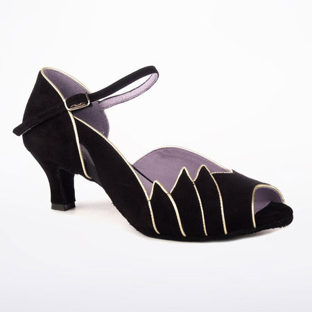 "Danube - Black Satin - 2"" Heel"