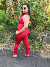 "PLUS SIZE ""Red Crush"" Jumpsuit"